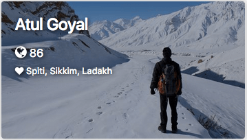 traveler profile for Atul Goyal at MyWanderlust.in