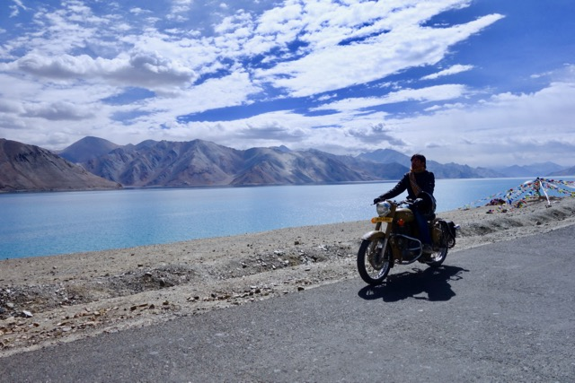 Bike ride. Leh to Pangong Tso.